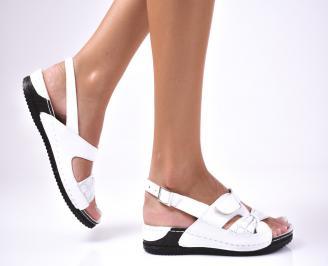 Дамски  сандали естествена кожа бели PMRH-1012603