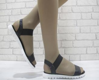 Дамски сандали естествена кожа черни KTTV-23865