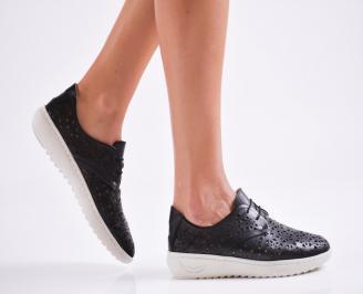 Дамски  сандали естествена кожа черни EJLZ-27142