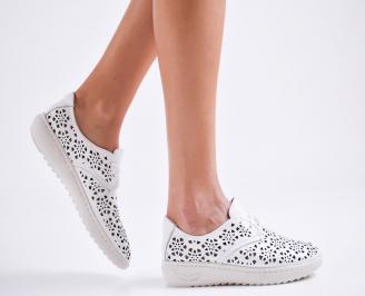 Дамски  сандали естествена кожа бели MJHP-27143