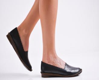 Дамски  сандали естествена кожа черни OAGV-27144