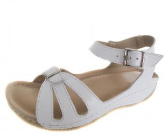Дамски сандали Гигант бели естествена кожа MXNV-21706