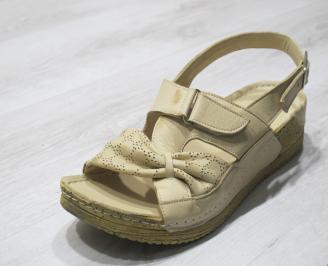 Дамски  сандали  Гигант  бежови естествена кожа IMFI-24282