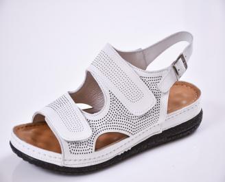 Дамски  сандали  Гигант  бели естествена кожа ZECB-27525