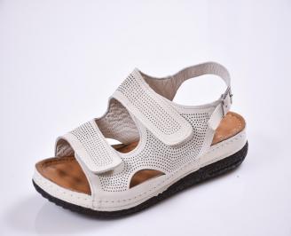Дамски  сандали  Гигант  бежови естествена кожа NYWD-27526