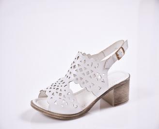 Дамски  сандали  Гигант  еко кожа  бели RQEH-27817