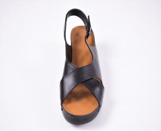 Дамски сандали Гигант  естествена кожа черни EUEW-1012214