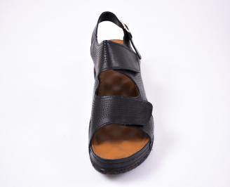 Дамски сандали Гигант  естествена кожа черни FZTI-1012217