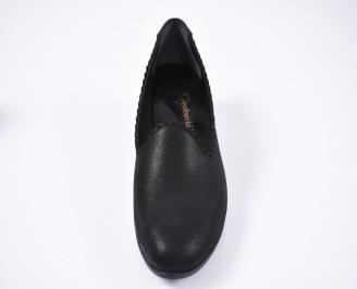 Дамски сандали Гигант  естествена кожа черни QDRE-1012332