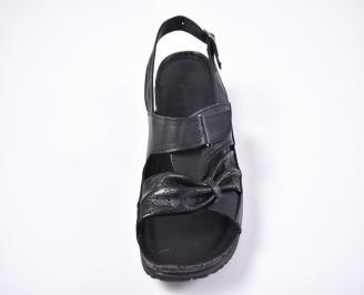 Дамски сандали Гигант  естествена кожа черни TZWK-1012601