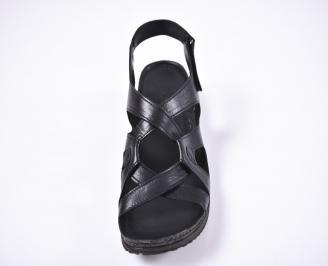 Дамски сандали Гигант  естествена кожа черни SCLQ-1012619