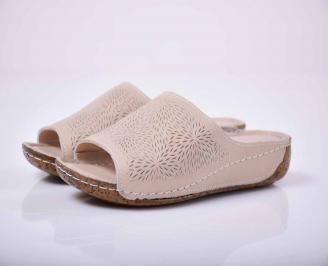 Дамски  сандали Гигант естествена кожа  бежови KBSW-1015805