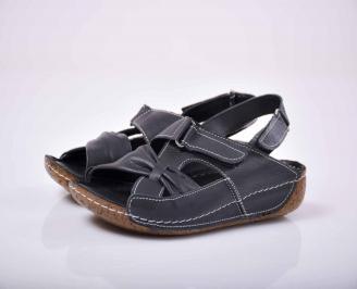 Дамски сандали Гигант естествена кожа черни  YDIQ-1015818
