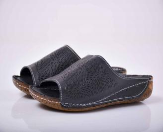 Дамски сандали гигант естествена кожа черен  VGHS-1015832