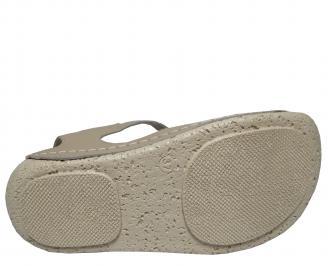 Дамски сандали-Гигант естествена кожа бежови EKCH-21712