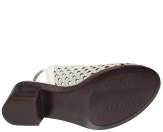 Дамски сандали -Гигант естествена кожа бежови YOVZ-21833