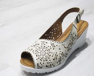 Дамски сандали -Гигант естествена кожа бежови RCTX-24184
