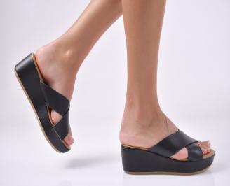 Дамски сандали на платформа черни. VMHY-1013945