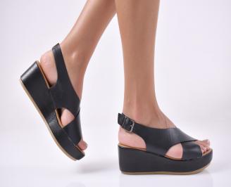 Дамски сандали на платформа  черен. FWIB-1013952
