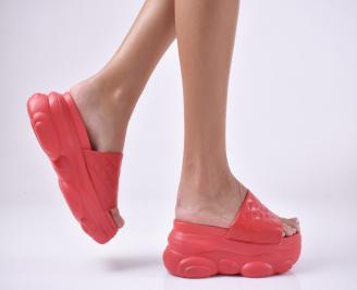 Дамски сандали на платформа черни OKLU-1013963