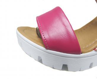 Дамски сандали на платформа еко кожа розови OVCK-21609