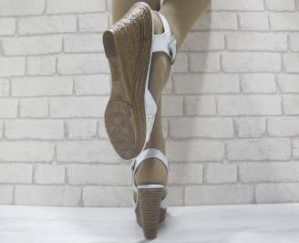Дамски сандали на платформа еко кожа сини DHHY-23834