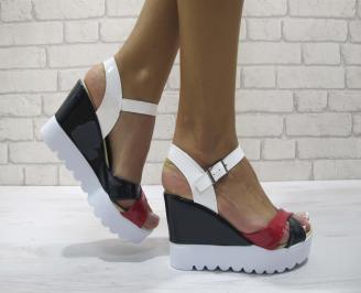 Дамски сандали на платформа еко кожа томи UHNM-24202