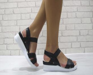 Дамски сандали на платформа еко кожа  черни ZZAT-24372