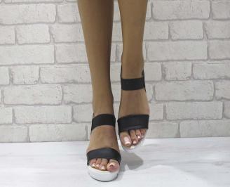 Дамски сандали на платформа еко кожа черни PIPY-24606