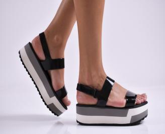 Дамски  сандали на платформа Ipanema черни YFRA-27311