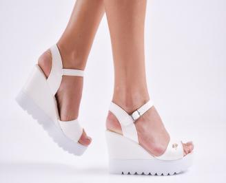 Дамски  сандали на платформа  еко кожа пудра YJXM-27592