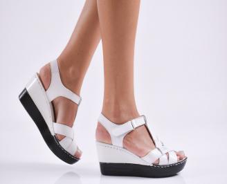Дамски  сандали на платформа  еко кожа бежови SDLY-27820