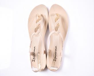 Дамски сандали силикон бежови JXHL-1012372