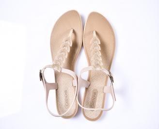 Дамски сандали силикон бежови QVYY-1012380