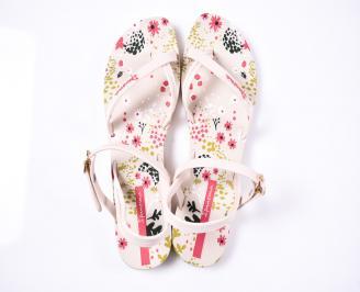 Дамски сандали силикон бежови MLQY-1012395
