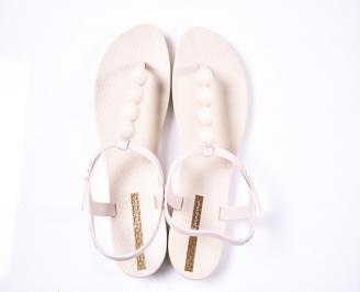 Дамски сандали силикон бежови EJWE-1012401