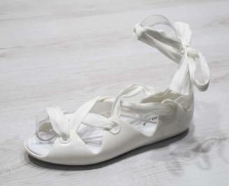 Дамски сандали силикон бели DGSS-24792