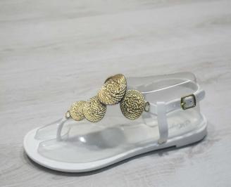Дамски сандали силикон бели DXWJ-24793