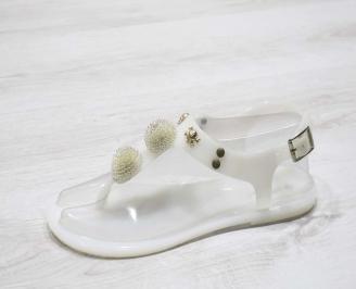 Дамски сандали силикон бели TGJX-24796