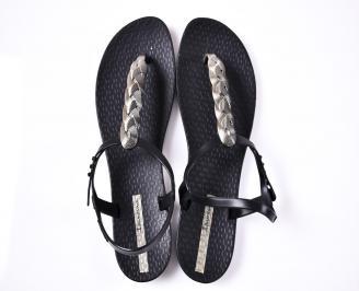 Дамски сандали силикон черни LMOM-1012398