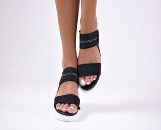 Дамски  сандали текстил черни FCZJ-1012459