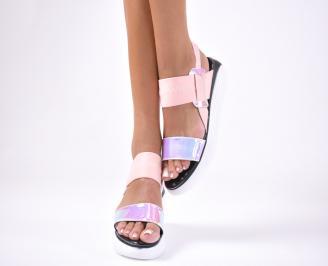 Дамски сандали  текстил пудра FBZB-1012651