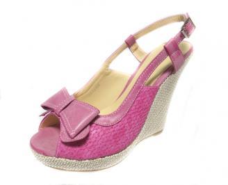 Дамски сандали текстил розови UXDH-13327