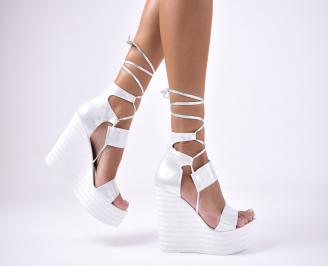 Дамски сандали текстил  сиви PKZE-1012596