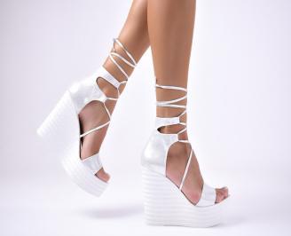 Дамски сандали текстил  сиви URTH-1012683