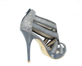 Дамски сандали текстил сиви JMWF-13493