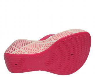 Дамски силиконови чехли на платформа  Ipanema розови SLJI-21680