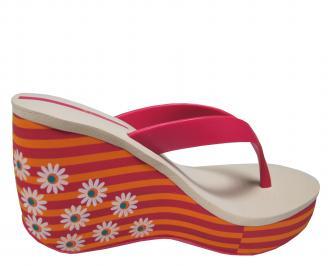 Дамски силиконови чехли на платформа Ipanema шарени BPHN-21681