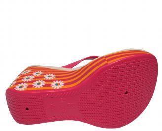 Дамски силиконови чехли на платформа Ipanema шарени 5