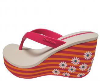 Дамски силиконови чехли на платформа Ipanema шарени 6